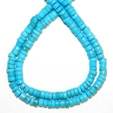 T466f Sleeping Beauty Natural Blue Turquoise 3mm Heishi Rondelle Bead 16""