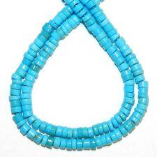 "T466f SLEEPING BEAUTY Natural Blue Turquoise 3x0.8mm-3x1.7mm Heishi Bead 16"""