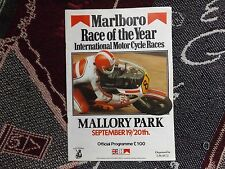 1981 MALLORY PARK RACE OF THE YEAR PROGRAMME SIGNED BY RON HASLAM & MICK GRANT