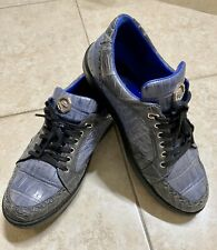 Genuine Alligator Skin Men Sneakers Size 10 Handmade Italy Stefano Ricci Size 43