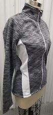 Tek Gear Women's Size Medium Gray Full Zip Mockneck Fleece-lined Workout Jacket