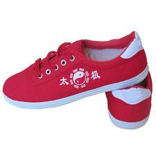 Red Eur40 Adult Trainers Taekwondo Shoes Flats Kung Fu Tai Chi Martial Art Zha19