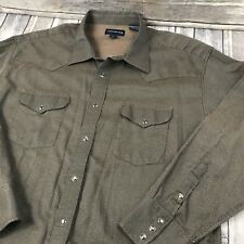 Panhandle Slim Men's Brown Western Pearl Snap Front Shirt Size 18x36 L XL