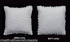 "Handmade Cotton Crochet Lace Pillow Cushion Cover 16x16"" Square WHITE,Wedding"