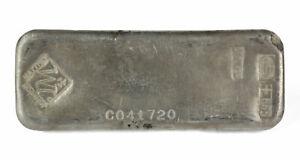 Vintage Johnson Matthey Canada 50 oz .999 Fine Silver Bar S/N C0041720