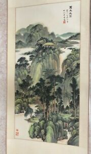 Japanese Watercolor Scroll Hand-painted
