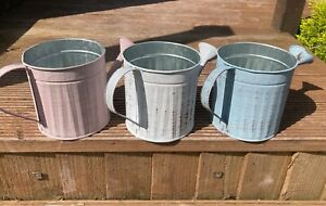 Rustic Metal Decorative Small Water Can - Available in 3 pastel colours