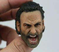 "1/6 The Walking Dead Rick Grimes Screaming Ver. Head Sculpt For 12"" Figure Body"