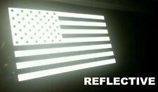 US American Flag REFLECTIVE Car Decal Sticker Patriotic, Auto, Window, Bike, USA