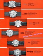 Omega Breitling Universal Geneve Jaeger-LeCoultre Zodiac 1957 Swiss Watch Fair