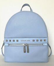 New Michael Kors KENLY Medium Backpack Pebble Leather Light Sky