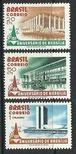 BRAZIL. 1970. 10th Anniversary of Brazilia Set. SG: 1290/92. Unused