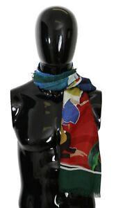 DOLCE & GABBANA Scarf Modal Multicolor Sorrento Wrap Shawl 134cm x 134cm