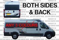 (No.828) Camper Van, Motorhome Graphics Horsebox Caravan RV Decals Vinyl Sticker