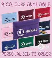 Personalised Football Pencil Case Kids Stationery Back To School Zip School Bag
