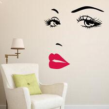 Decals Art Salon Wall Eyes Lips Mural Decor Eyebrow Sticker 3d Sexy Diy Bedroom