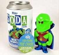 Funko Vinyl Soda Glow CHASE * Martian Manhunter 1/1600 GITD Limited Edition RARE