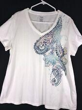 Woman Blouse Size XXL Short Sleeve Top Shirt