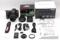 《TOP MINT IN BOX》 Pentax K-5 IIS W/ SMC PENTAX DA 18-55mm f/3.5-5.6 DSLR Japan