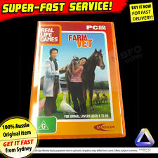 Farm Vet PC Game (NEW) Windows XP Vista laptop computer software kids animal pet