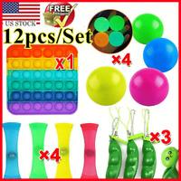 12PCS Sensory Fidget Toys Set Anxiety Stress Relief Anti-Anxiety Toy ADHD Autism