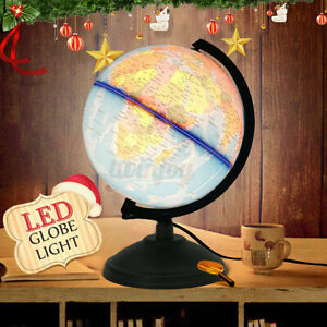 LED light Desktop Rotating World Earth Globe Geography Education Map Home  **/