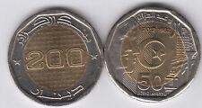 ALGERIA 200 Dinars 2012 bimetal, Independance, UNC