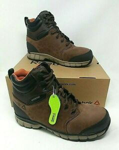 Reebok Sublite Cushion Waterproof Men's Workboot- US Sizes 8.5-13, Brown RB4606