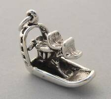 Sterling Silver Charm Pendant 3D AIRBOAT Fan Boat Florida Everglades 3633