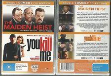THE MAIDEN HEIST MORGAN FREEMAN YOU KILL ME TEA LEONI LUKE WILSON NEW 2 DVD SET