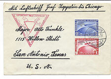 Germany Luftschiff Graf Zeppelin Cover - 50th Ocean Crossing, SC C43-C44*