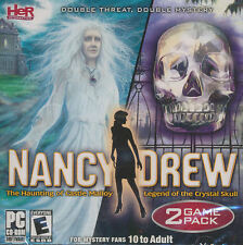NANCY DREW 2 Pack - Haunting of Castle Malloy & Legend of the Crystal Skull NEW!