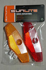 "SUNLITE 5"" Wheel Reflector Set - Red Yellow Short Bike Bicycle Spokes Tires NEW!"