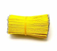 100 pieces Yellow 8CM 24AWG 300V Tinned Copper Lead Wire Cable Strip