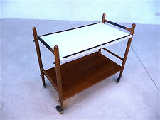 German Mid-Century Modern TEA TROLLEY Bar Serving Cart Servierwagen | 1960s