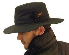 Campbell Cooper New Australian Stockman Bush Hat Olive Green Wax Cotton Small