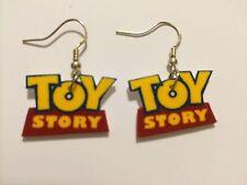Toy Story Logo Earrings Handmade Plastic Charms Cute Disney Pixar Kids