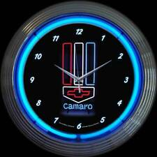 Chevrolet Camaro Neon Clock - Gm - Chevy - Z/28 - Rs - Ss - Muscle Car