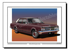 Holden HK brougham Sedan (Maroon Burgundy)  Colour Print