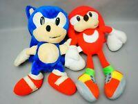 Vintage Tomy 1991 Sonic Hedgehog & Impact Knuckles soft toys