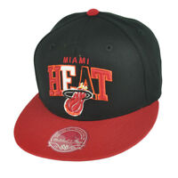 NBA Mitchell Ness G022 Miami Heat Multicolor Flat Bill Fitted Hat Cap