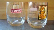 Pair of vintage Dubonnet glasses