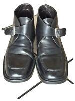 Scarpe elegante da uomo con fibia  nere in pelle Tg.43