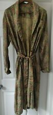 Vintage 50's Handmade Paisley Smoking Jacket Dressing Gown Housecoat