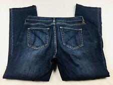 "New York & Company Women's Jeans 6 Straight Leg Dark Wash Denim Inseam 27"" (A1"