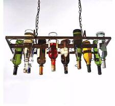 Deckenleuchte Bottle, gestaltbar, Metall Hänhelampe  für 14 Flaschen
