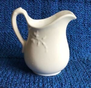 """Antique OH 1892-1900 White Ironstone Pitcher D.E.McNocol Pottery Co. 6"""""""