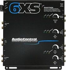 AUDIOCONTROL 6XS CAR AUDIO STEREO 6-CHANNEL ELECTRONIC CROSSOVER + REMOTE BLACK