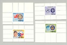 Tonga #828-831 Rotary, Kennedy, Peace Corps 4v Chromalin Proofs