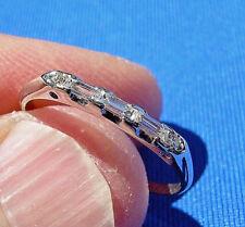 20S Deco Diamond Anniversary Wedding Band Vintage Antique Platinum Eternity ring